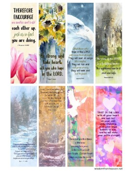 Encouragement Bible Verse Bookmarks