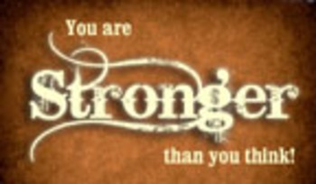 Encouragement Cards - You are Stronger