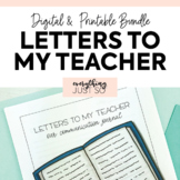 Letters to My Teacher: Encouragement Journal | Editable St