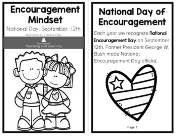 Encouragement Mindset Reader: Recognized National Days