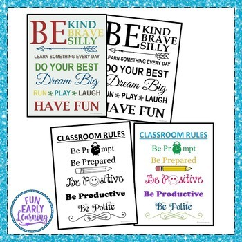 Encouragement Posters - Classroom Decor