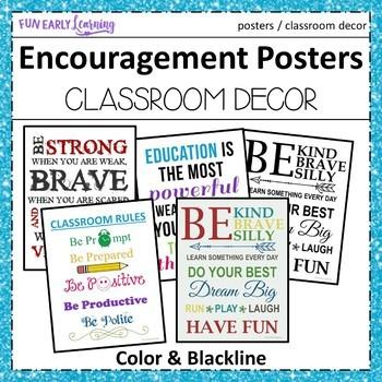 Encouragement Posters / Motivational Posters - Classroom Decor