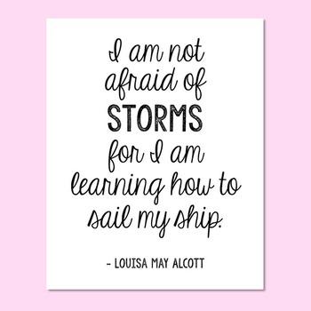 "Freebie! Louisa May Alcott Encouragement Quote Poster, Author of ""Little Women"""