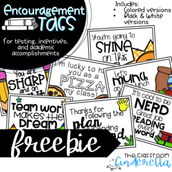 Encouragement Tags: Freebie