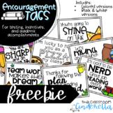 Encouragement Tags: Freebie