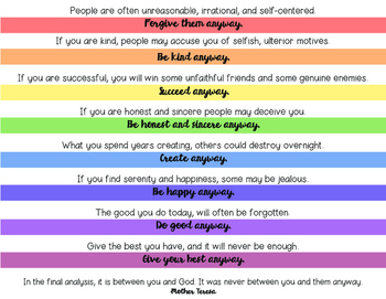Encouragement To Do the Right Thing