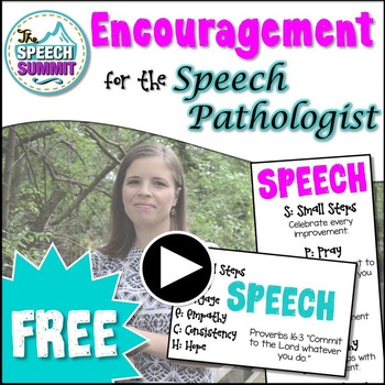 FREEBIE: Encouragement for the Speech Pathologist {Bookmark & Quick Reminders}