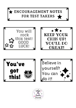 Encouragemet for test takers