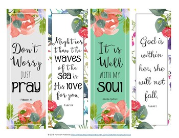 FREE Encouraging Bookmarks {Floral Watercolor)