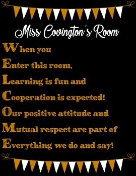 Encouraging Classroom Expectations Posters ***PERSONALIZED***
