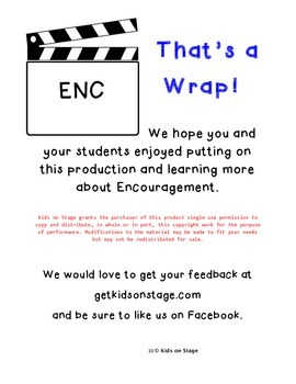 Encouraging News Broadcast - Easy play w/ character theme of encouragement