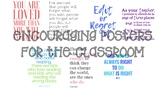 Encouraging Posters for the Classroom