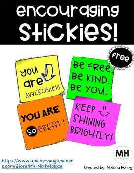 Encouraging Stickies - FREE