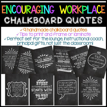 Chalkboard Quotes Extraordinary Encouraging Workplace Chalkboard Quotes By Katie Surly TpT