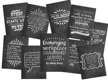 Encouraging Workplace Chalkboard Quotes