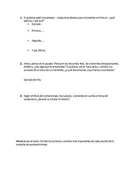 Encrucijada - Movie Guide + Cortometraje Guide + Scaffolded Notes - Conditional