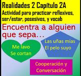 Encuentra a Alguien que Sabe... Active Cooperative Learning, Realidades 2 Ch. 2A