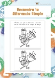 Encuentra la Diferencia Simple (Habilidades de Percepción Visual)