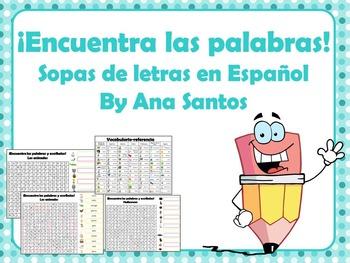 ¡Encuentra las palabras! Sopas de letras en español