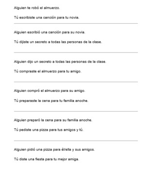 Encuentra tu pareja (Find Your Match - Speaking Activity for DO/IO Pronouns)