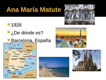 Encuentros maravillosos Ana María Matute author info chapter 5 ( spanish )