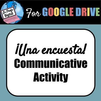 Encuesta (Survey) Spanish Communicative Activity (all levels/topics!)