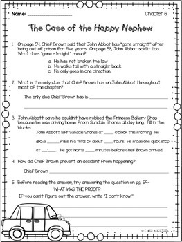 Encyclopedia Brown Boy Detective Comprehension Questions