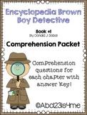 Encyclopedia Brown Boy Detective Comprehension Questions