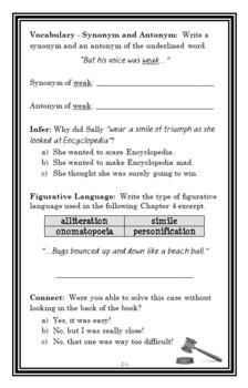 Encyclopedia Brown, Boy Detective (Donald J. Sobol) Novel Study / Comprehension