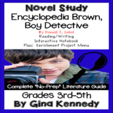 Encyclopedia Brown, Boy Detective Novel Study + Enrichment Project Menu