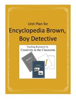 Encyclopedia Brown Boy Detective Novel Unit Plus Grammar
