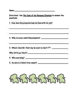 Encyclopedia Brown- Case of the Runaway Elephant