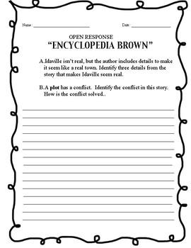 """""""Encyclopedia Brown - Open Response"""