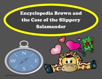 Encyclopedia Brown and the Case of the Slippery Salamander: TriFolds+Activities