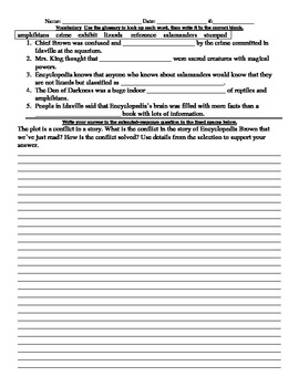 Encyclopedia Brown Study Guide & Comprehension Questions
