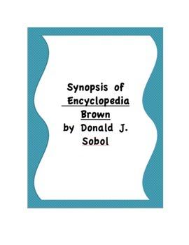 Encyclopedia Brown Synopsis