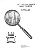 Encyclopedia Brown Takes the Cake Novel Study Guide