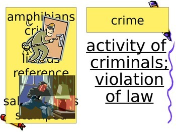 Encyclopedia Brown Vocabulary Powerpoint