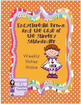 Encyclopedia Brown...Weekly Letters (Scott Foresman Reading Street)