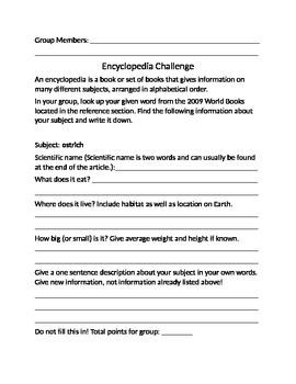 Encyclopedia Challenge