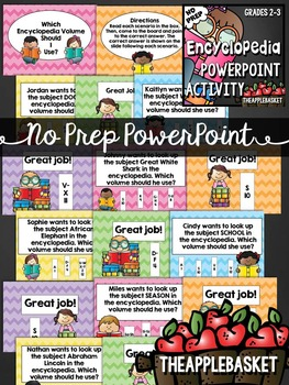 Encyclopedia Task Cards and PowerPoint (Encyclopedia Research)