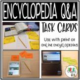Encyclopedia Q&A Task Cards