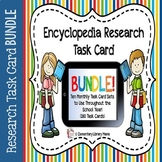 Encyclopedia Research Task Cards with Self-Checking QR Codes BUNDLE!