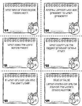 Encyclopedia Task Cards Set