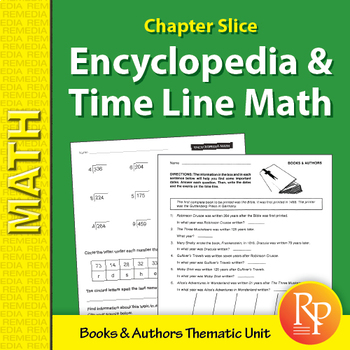 Encyclopedia & Time-Line Math: Books & Author Unit