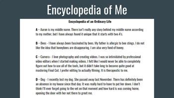 Encyclopedia of Me - Based on Encyclopedia of an Ordinary Life