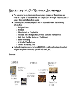 Encyclopedia of Religion Assignment