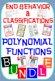 End Behavior & Classifications of Polynomial Functions 50%+ OFF BUNDLE