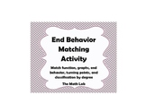 End Behavior and Turning Points Matching Activity