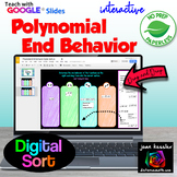 End Behavior of Polynomial Functions Digital Sort with GOOGLE™ plus PRINTABLE